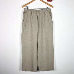 [FLAX] 100% Linen Wide Leg Pants
